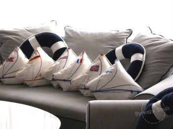 Yachts Pillows with Flag in Hanza Hotel